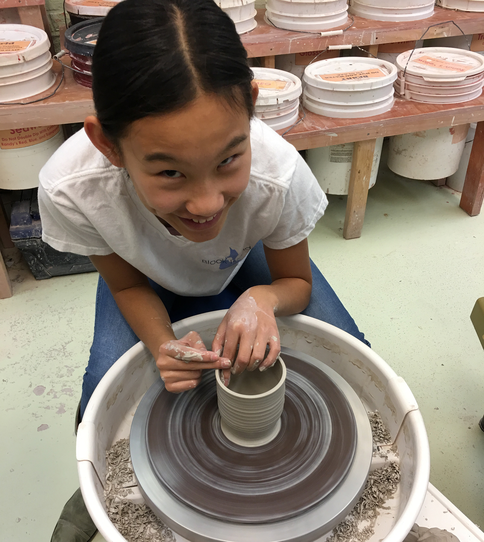 Summer Kids Pottery Wheel Hand Building Mini Camp 2019 Park